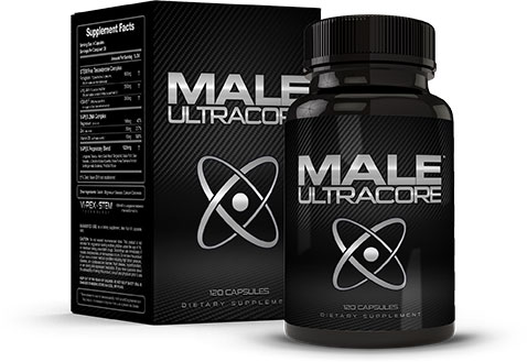 Male UltraCore T Boosters Box and Bottle